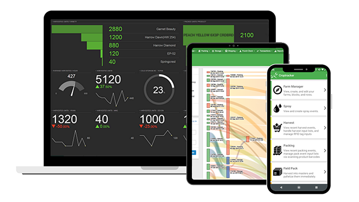 Croptracker screens